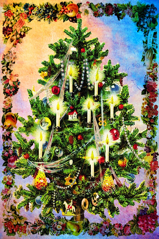 CANDLE~LIT CHRISTMAS TREE by Tammera