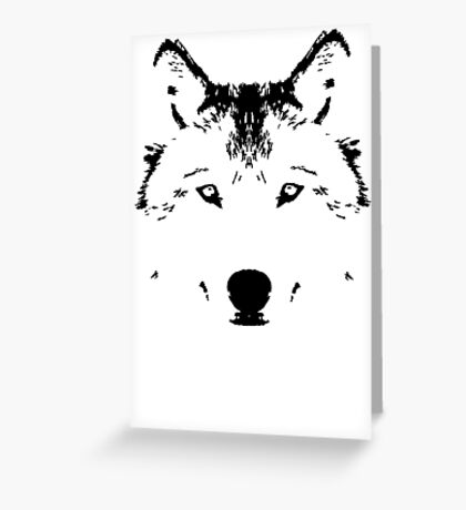 Rorscach Wolf Greeting Card