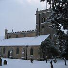 Snowy Lincolnshire Church  by Rachel Tyrrell