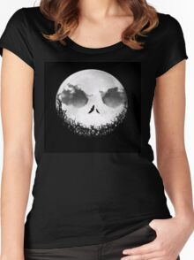 Happy moon Women's Fitted Scoop T-Shirt