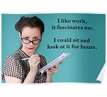 Vintage Work Poster Poster