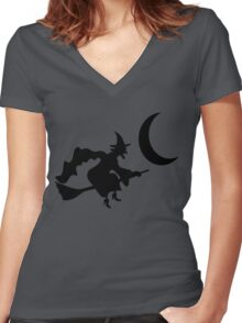 Witch Women's Fitted V-Neck T-Shirt