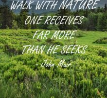 Walk with nature 3 Sticker