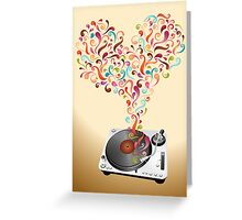 Music lovers - abstract poster Greeting Card