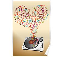 Music lovers - abstract poster Poster