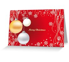 Decorative christmas card or background Greeting Card