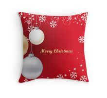Decorative christmas card or background Throw Pillow