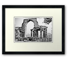 The ruins in the Qutb Complex, India Framed Print