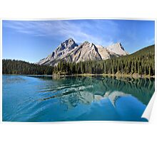 Broken Reflection on Maligne Lake Poster