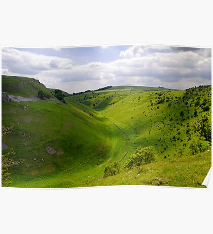 Cressbrook Dale from Mires Lane Poster
