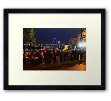 Thames River Onlookers Framed Print