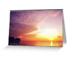 Once Upon A Sunrise Greeting Card