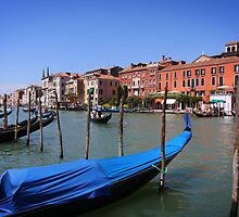 Gondolas on Gran Canal, Venice by SeeOneSoul
