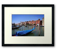 Gondolas on Gran Canal, Venice Framed Print