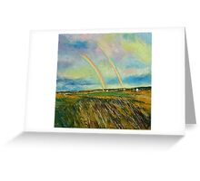 Scotland Double Rainbow Greeting Card