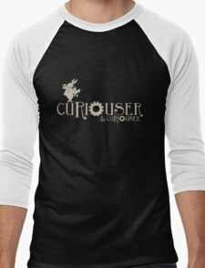 Curiouser & Curiouser Alice in Wonderland Shirt Men's Baseball ¾ T-Shirt