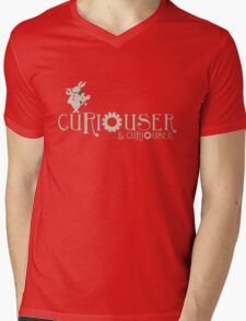 Curiouser & Curiouser Alice in Wonderland Shirt Mens V-Neck T-Shirt