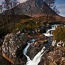 Glen Etive waterfall by Phillip Dove