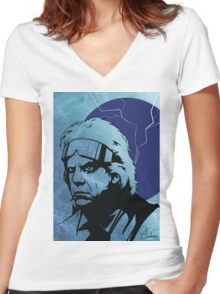 'The Doc' from Back To The Future Women's Fitted V-Neck T-Shirt