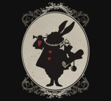 Alice in Wonderland White Rabbit Oval Portrait T-Shirt