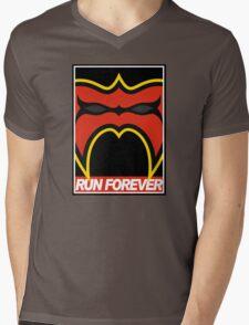 Run Forever Mens V-Neck T-Shirt