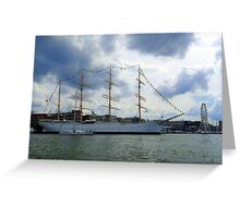 In The Gothenburg Harbour Greeting Card