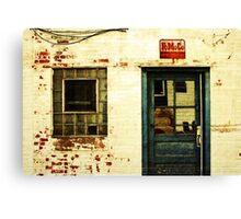 an old facade Canvas Print