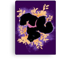 Super Smash Bros. Purple Donkey Kong Silhouette Canvas Print