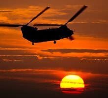 RAF Chinook sunset by JonCoombes