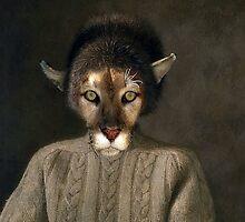 Puma In Winter Hat by SuddenJim