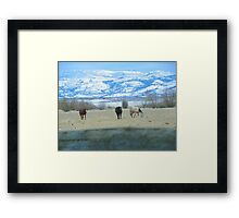 Here We Come Framed Print