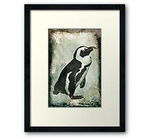 Penguin On Ice Framed Print