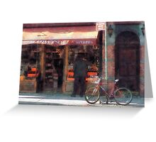 Wines and Spirits Greenwich Village Greeting Card