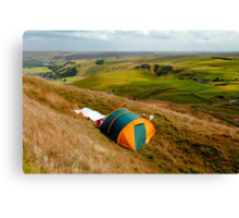 Tent Sited Near Summit of Mam Tor Canvas Print