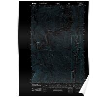 USGS Topo Map Washington State WA Winton 20110601 TM Inverted Poster