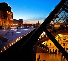 Lit-up Louvre 2 by yaana