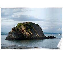 Goscar Rock Tenby Pembrokeshire Poster