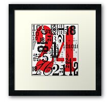 Numbers by Levis Framed Print