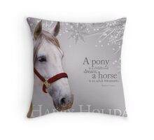 White Holiday Throw Pillow