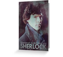 BBC Sherlock Poster & Prints (Benedict Cumberbatch) Greeting Card