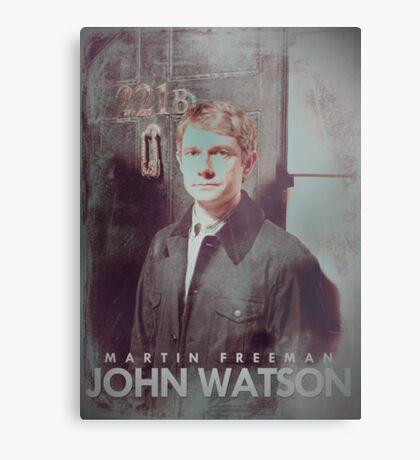BBC Sherlock John Watson Poster & Prints (Martin Freeman) Metal Print