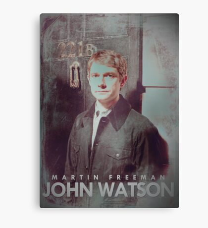 BBC Sherlock John Watson Poster & Prints (Martin Freeman) Canvas Print