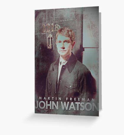 BBC Sherlock John Watson Poster & Prints (Martin Freeman) Greeting Card