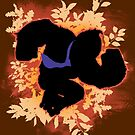 Super Smash Bros. Orange Donkey Kong Silhouette by jewlecho