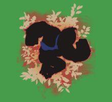 Super Smash Bros. Orange Donkey Kong Silhouette Kids Tee