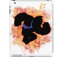 Super Smash Bros. Orange Donkey Kong Silhouette iPad Case/Skin