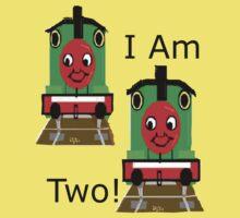 Cartoon Choo Choo Train Tshirt For Two Year Old Kids Tee
