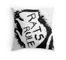 Rats Rule White Throw Pillow