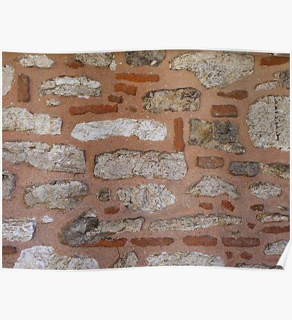 White stone, red brick, pink mortar (Topkapı Sarayı) Poster