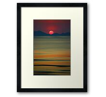 Beach of the Setting Sun Framed Print
